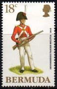 Bermuda 1988 Military Uniforms SG 570 Fine Mint