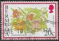 Bermuda 1994 Flowering Fruits SG 707A Fine Used