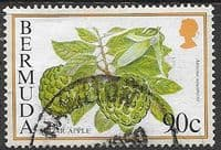 Bermuda 1994 Flowering Fruits SG 713A Fine Used
