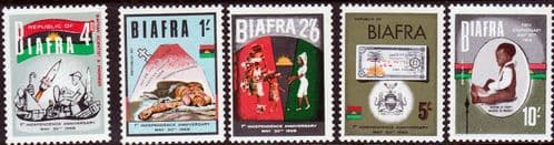 Biafra 1968 1st Anniversary of Independence Set Fine Mint