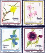 Botswana 1986 Christmas Flowers of Okavango Set Fine Mint