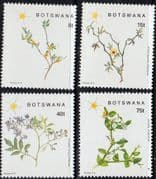 Botswana 1988 Flowering Plants Set Fine Mint