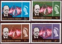 British Antarctic Territory 1966 Churchill Set Fine Mint