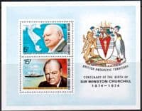 British Antarctic Territory 1974 Churchill Centenary Miniature Sheet Fine Mint
