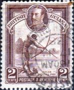 British Guiana 1934 King George V SG 289 Indian Shooting Fish Fine Used
