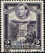 British Guiana 1938 King George VI SG 309 Kaieteur Falls Field Fine Used