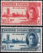 British Guiana 1946 King George VI Victory Set Fine Mint