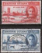 British Guiana 1946 King George VI Victory Set Fine Used