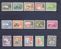 British Guiana 1954 Queen Elizabeth II Set Fine Mint