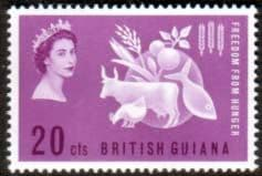 British Guiana 1963 Freedom From Hunger Fine Mint