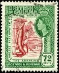 British Guiana Queen Elizabeth II 1952-1966