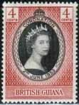 British Guiana Queen Elizabeth II 1953 Coronation Fine Mint