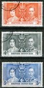British Honduras 1937 King George VI Coronation Set Fine Used