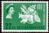 British Honduras 1963 Freedom From Hunger Fine Mint