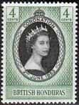 British Honduras Queen Elizabeth II 1953 Coronation Fine Mint