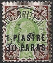 British Levant 1909 Turkish Currency SG 18 Fine Used