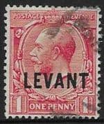British Levant 1911 British Currency SG L17 Fine Used
