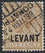 British Levant 1921 British Currency SG L21 Fine Used