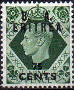British Post Offices Eritrea 1950 Overprint B A SG E 21 Fine Mint