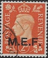 British Post Offices in Africa Middle East Force 1942 SGM 2 Fine Used