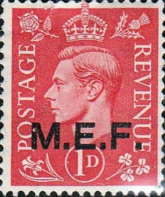 British Post Offices in Africa Middle East Force 1943 SGM 11 Fine Mint