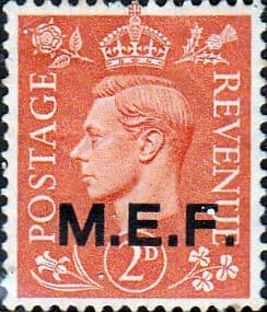 British Post Offices in Africa Middle East Force 1943 SGM 12 Fine Mint