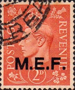 British Post Offices in Africa Middle East Force 1943 SGM 12 Fine Used