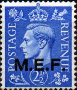 British Post Offices in Africa Middle East Force 1943 SGM 13 Fine Mint
