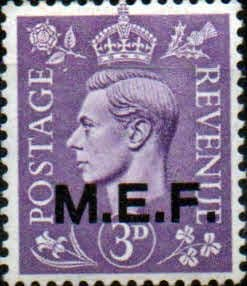 British Post Offices in Africa Middle East Force 1943 SGM 14 Fine Mint