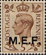 British Post Offices in Africa Middle East Force 1943 SGM 15 Fine Mint