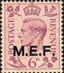 British Post Offices in Africa Middle East Force 1943 SGM 16 Fine Mint