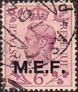 British Post Offices in Africa Middle East Force 1943 SGM 16 Fine Used