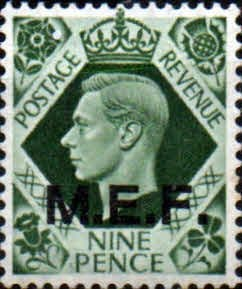 British Post Offices in Africa Middle East Force 1943 SGM 17 Fine Mint