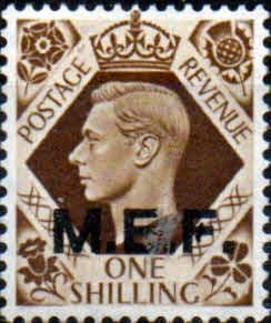 British Post Offices in Africa Middle East Force 1943 SGM 18 Fine Mint