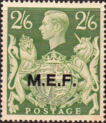 British Post Offices in Africa Middle East Force 1943 SGM 19 Fine Mint