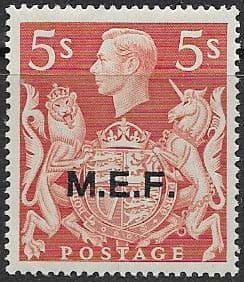 British Post Offices in Africa Middle East Force 1943 SGM 20 Fine Mint