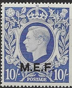 British Post Offices in Africa Middle East Force 1943 SGM 21 Fine Mint