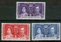 British Solomon Islands 1937 King George VI Coronation Set Fine Mint