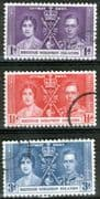 British Solomon Islands 1937 King George VI Coronation Set Fine Used