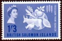 British Solomon Islands 1963 Freedom From Hunger Fine Mint