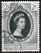 British Solomon Islands Queen Elizabeth II 1953 Coronation Fine Used