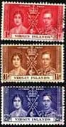 British Virgin Islands 1937 King George VI Coronation Set Fine Used