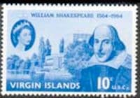 British Virgin Islands 1964 William Shakespeare Fine Mint
