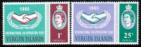 British Virgin Islands 1965 International Co-operation Year Set Fine Mint