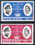 British Virgin Islands 1966 Caribbian Royal Visit Set Fine Mint