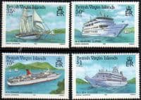 British Virgin Islands 1985 Visiting Cruise Ships Set Fine Mint