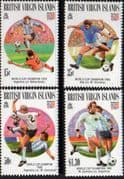 British Virgin Islands 1994 World Cup Football Championship Set Fine Mint