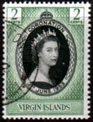 British Virgin Islands Queen Elizabeth II 1953 Coronation Fine Used