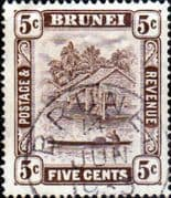Brunei 1924 View on River SG 68 Fine Used