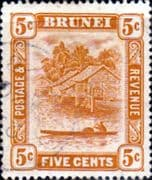 Brunei 1947 View on River SG 82 Used